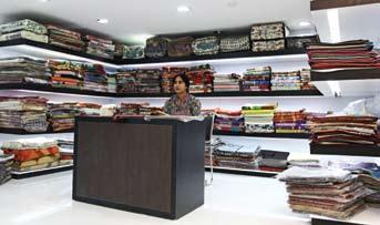 availability of a wide and exclusive variety of hand woven