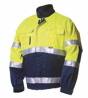 u SAFETY WORKWEAR WINTER JACKET 5091 EN 471, class 2 and EN 342 water- and stain-resistant, 120g Thinsulate lining HI-VIS YELLOW/NAVY BLUE With 5261 / 5101 class 3.