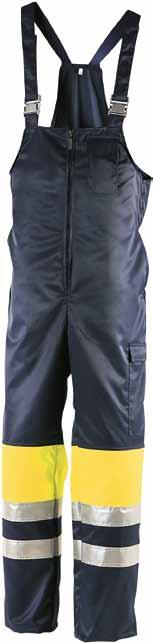 u WINTER BIB TROUSERS 5101 EN 471, class 1 and EN 342 water- and stain-resistant, 80g Thinsulate lining HI-VIS YELLOW/NAVY BLUE With 5091 class 3.