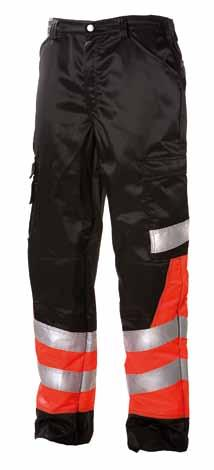SAFETY WORKWEAR TROUSERS 622 LADIES JACKET 672 EN 471, class 2 water- and stain-resistant S-XL HI-VIS RED/black With 622 class 3. Mesh ling at front.