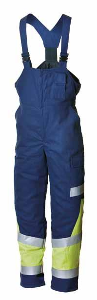 MULTI WINTER BIB TROUSERS 664 DIMEX - MULTINORM 50% 50% cotton 49% 49% POLYESTER, 1% antistatic fibre, 345 g/m² The material is tested against the thermal hazards of an electric arc IEC 61482-1-2.