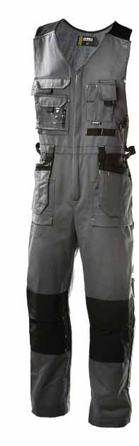 TROUSERS WITH LOOSE POCKETS 7061 65% 50% polyester 35% cotton, 300 g/m², Cordura 100% polyamide, 240 g/m² heavy-duty, easy to care for and breathable 44-64 GREY/BLACK Knee pad 4005 and 043 Cordura