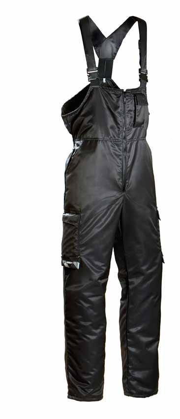 TROUSERS 708 30% cotton, 245 g, water- and stain-resistant BLACK Knee pad 043 Front pockets, coin pocket, cargo pockets, mobile phone pocket, pen pockets, back pockets and