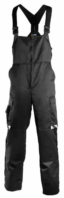 NORM WEAR u NEW qwinter TROUSERS 682 NEW 30% cotton, 245 g/m² WATER- AND STAIN-RESISTANT 60g wadding BLACK KNEE PAD
