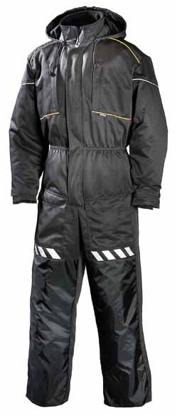 COVERALL 671 30% cotton, 245 g, water- and stain-resistant DARK GREY Zipped chest pockets, pen pockets, front pockets with acces to own pockets, cargo pocket and back pocket. Hammer loop.