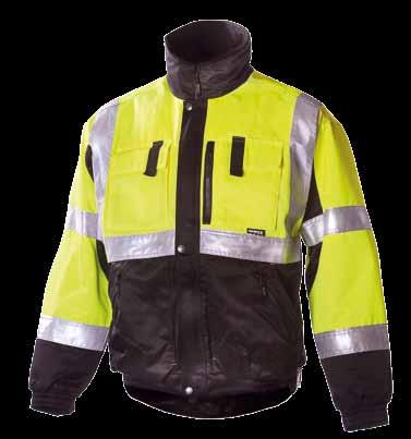 uwinter JACKET 635 EN 471, class 2 and en 342 30% cotton, 245 g/m 2, water- and stain-resistant, 120 g/m 2