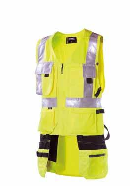VEST WITH LOOSE POCKETS 632 EN 471, class 2 30% cotton, 245 g/m 2, Cordura 100% polyamide, 240 g/m², heavy-duty, water- and