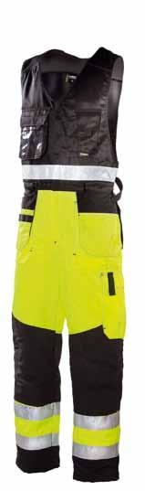 water- and stain-resistant S-4XL HI-VIS yellow/black Knee pad 4005 and 043 Cordura reinforcements in loose pockets and knee