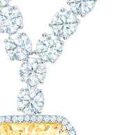 DIAMONDS; A CUSHION-CUT FANCY INTENSE TIFFANY