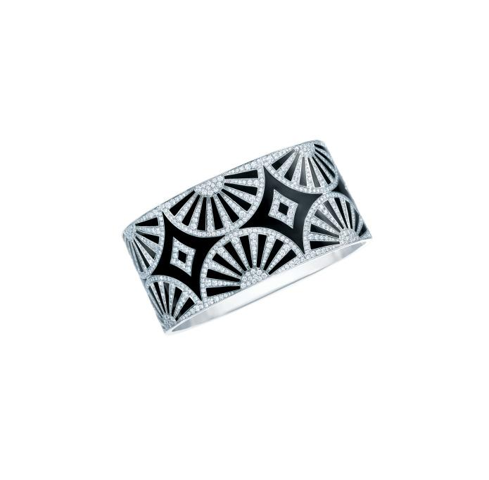 ART DECO IS DISTINGUISHED BY GEOMETRIC PATTERNS IN CRISP BLACK AND WHITE.
