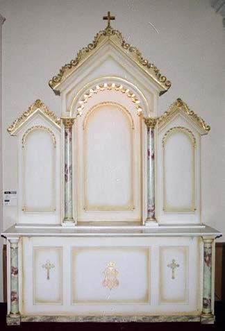 Romanesque Style Wood Side Altar