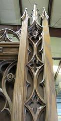 middle), gothic tracery piece