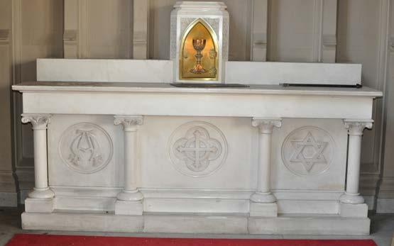 Traditional Italian Marble Side Altar Circa 1900