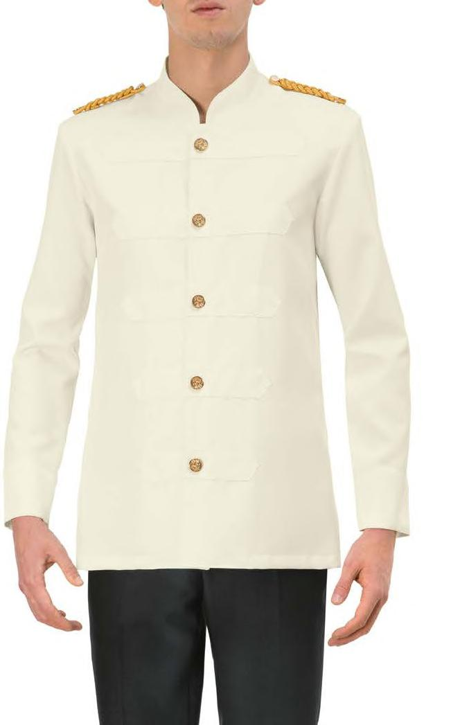 138/A GIACCA JACKET 120 Panna / Cream 100% poliestere 100% polyester 220 g / m 2 XS XXXL Slim Fit