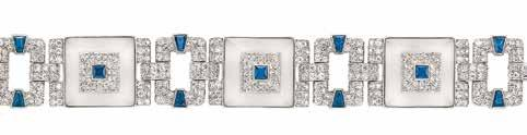 $5,000-7,000 393 Art Deco Platinum, White Gold, Diamond and Emerald Wristwatch Mechanical, marquise-shaped, old European, transitional & single-cut diamonds ap. 4.20 cts.