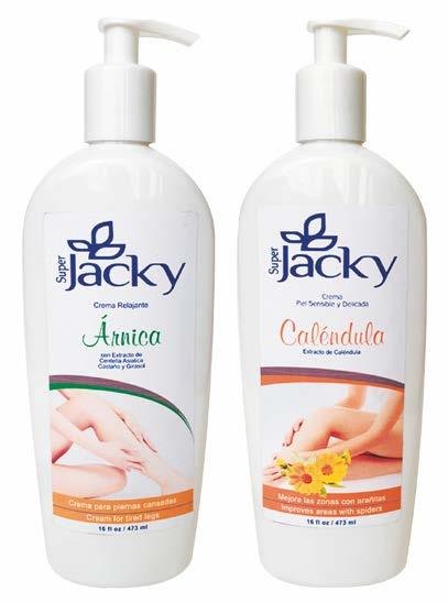 SUPER JACKY HAND & BODY CREAMS with Árnica and Caléndula that