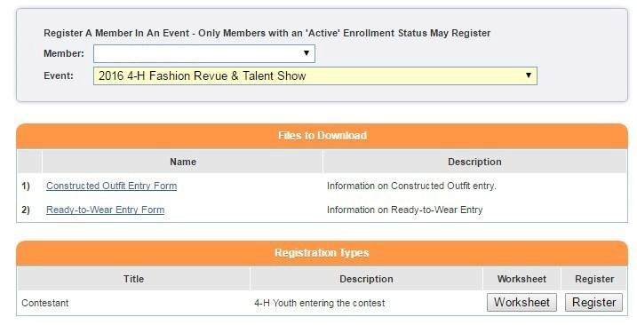 You will see a box titled Register a Member in an Event Only Members with an Active Enrollment Status May Enter.