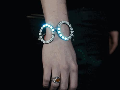 NeoPixel Ring Bangle Bracelet Created by Becky