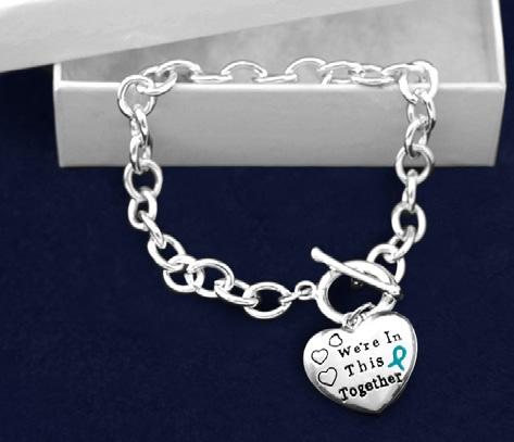 In This Together. The charm is 1 inch by 1 inch. Comes in optional gift box. (B-82-3) Size: 8 in. Qty: 18/pkg.