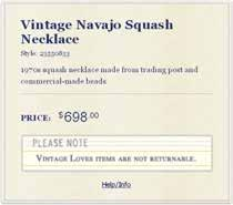 Vintage Navajo Squash Necklace at Free People Clothing