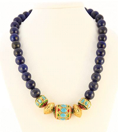 S Clasp Retail $675 Indian Moghul Style Faceted Beads accented