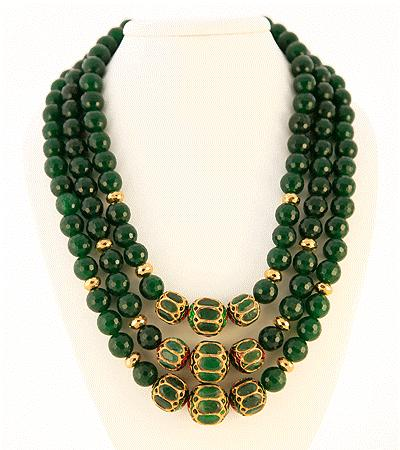 "5"", S Clasp Retail $975 Green Rupara Moghul Style Three"