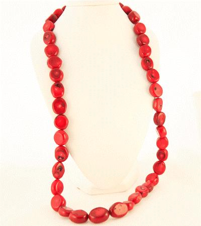 "Silver S Clasp, 35"" Retail $207 Red Coral 4 Strand Smooth"