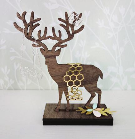 Standing Deer Jewelry Display