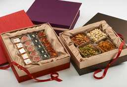 2 special Mithai Boxes with an assortment of Elegance Combo Delights Gift Box 5 varieties of 20