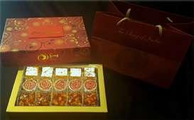 Gold Celebrations Gift Box Our Mithai Box with an assortment of 3 varieties of 15 sweets 45 + 33