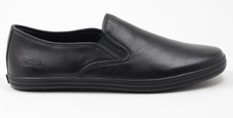 Shoes must be plain black polished leather (examples A to F below) Shoes