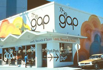 Bridging the Gap in History Doris and Don Fisher founded the Gap brand by opening up a store in 1969 in San Francisco, which is still the location of their headquarters.