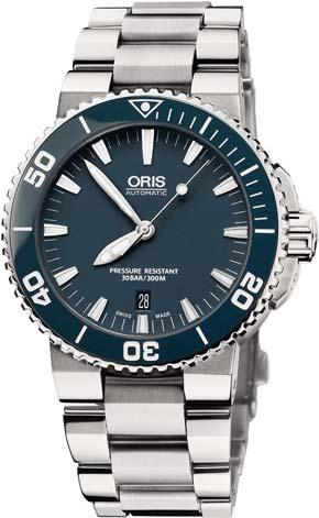 LEATHER CASE STRAP BACKWITH DEPLOYMENT BUCKLE 26MM AQUIS STAINLESS STEEL BRACELET ORIS