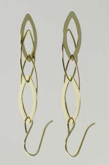 14kt Yellow Gold 11mm Love Knot Earrings with