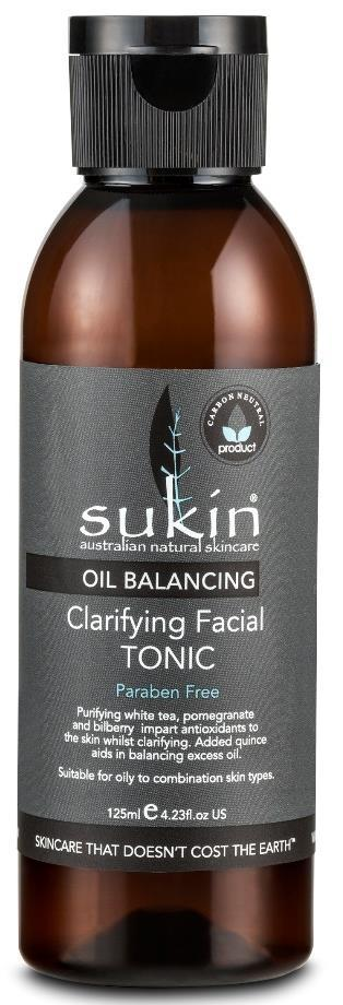OIL BALANCING CLARIFYING FACIAL TONIC OIL BALANCING FACE Actives: Suitable for: How to use: Tips: Size/Price: Oil Balancing CLARIFYING FACIAL TONIC A deeply clarifying facial tonic for post-cleanse