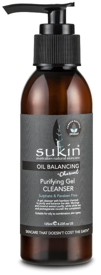 OIL BALANCING PURIFYING GEL CLEANSER OIL BALANCING FACE Actives: Suitable for: How to use: Tips: Size/Price: Oil Balancing with Charcoal PURIFYING GEL CLEANSER A gel based every day cleanser enriched