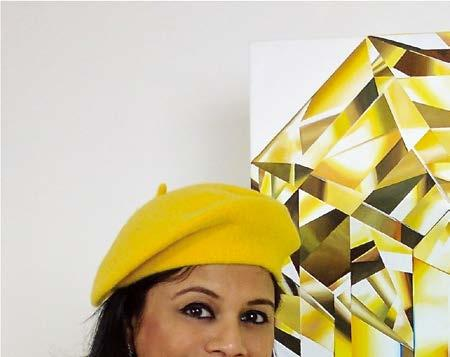DIAMONDS Reena Ahluwalia with Glorious, an emerald-cut fancy yellow diamond painting