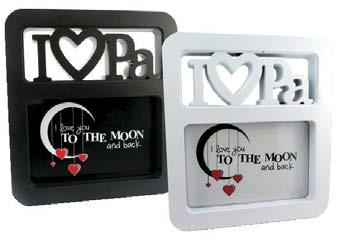 Place your favorite photo of you and Pa inside or simply leave our logo card that says it all about how much you love him Comes in black and white with matching gift box. (19cm X 17cm) $ 1.