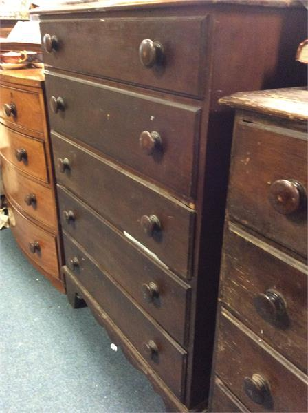 127 A mahogany chest of