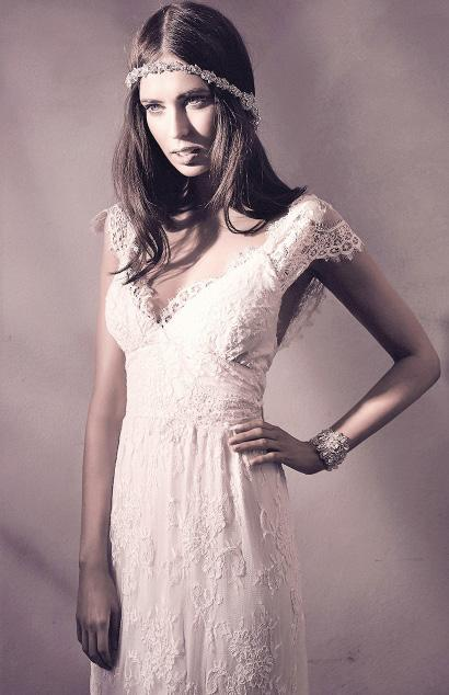 Paired beautifully with a chapel length veil and sparkly earrings, the relaxed
