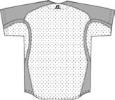 10% Spandex (White) Adult Sizes: S-XXL Faux placket pullover jersey VT Cloth Body and underarm inserts 72