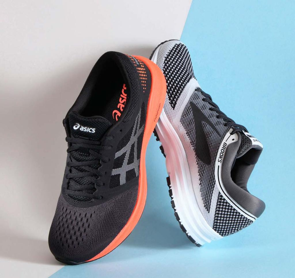 sportstyle FOOTWEAR Performance running brands venture into All Day shoes, but don t call them Athleisure. BY JONATHAN BEVERLY ACTIVITYAGNOSTIC FOOTWEAR ASICS Road Hawk FF and Brooks Revel.