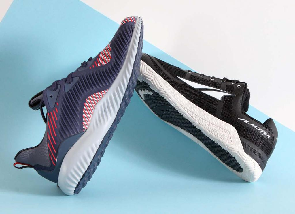 sportstyle FOOTWEAR Adidas Alphabounce and Altra HIIT XT: Designed for team-sport athletes, these two models are built to support serious gym training and moderate running, with enough style to