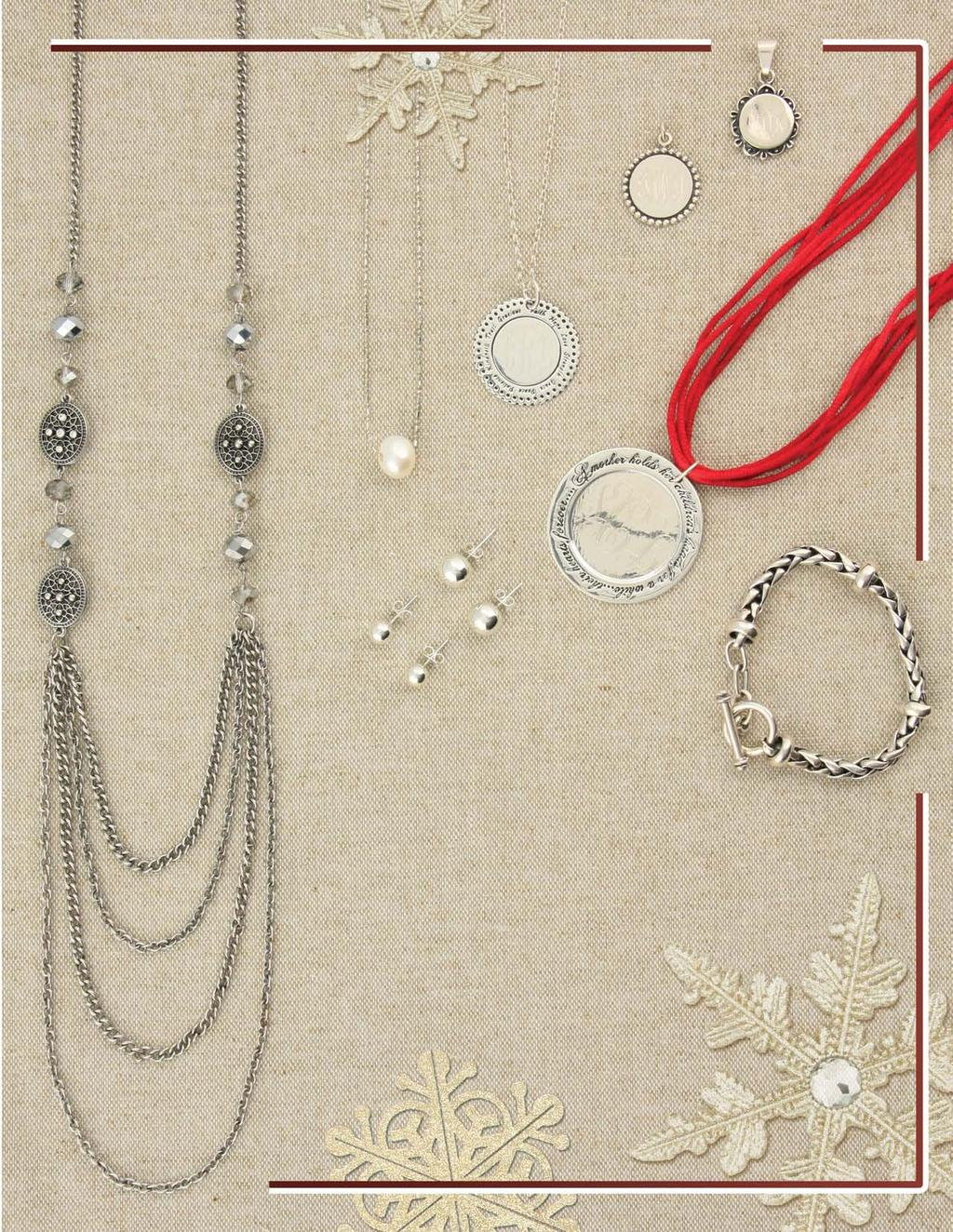 e. d. a. b. c. h. g. f. i. Classic Styles a. JN0516 $29 Vintage ovals accent necklace and earring set b. JN0481 $21 Single 10mm freshwater pearl on silver chain measuring 16 1/2 c.