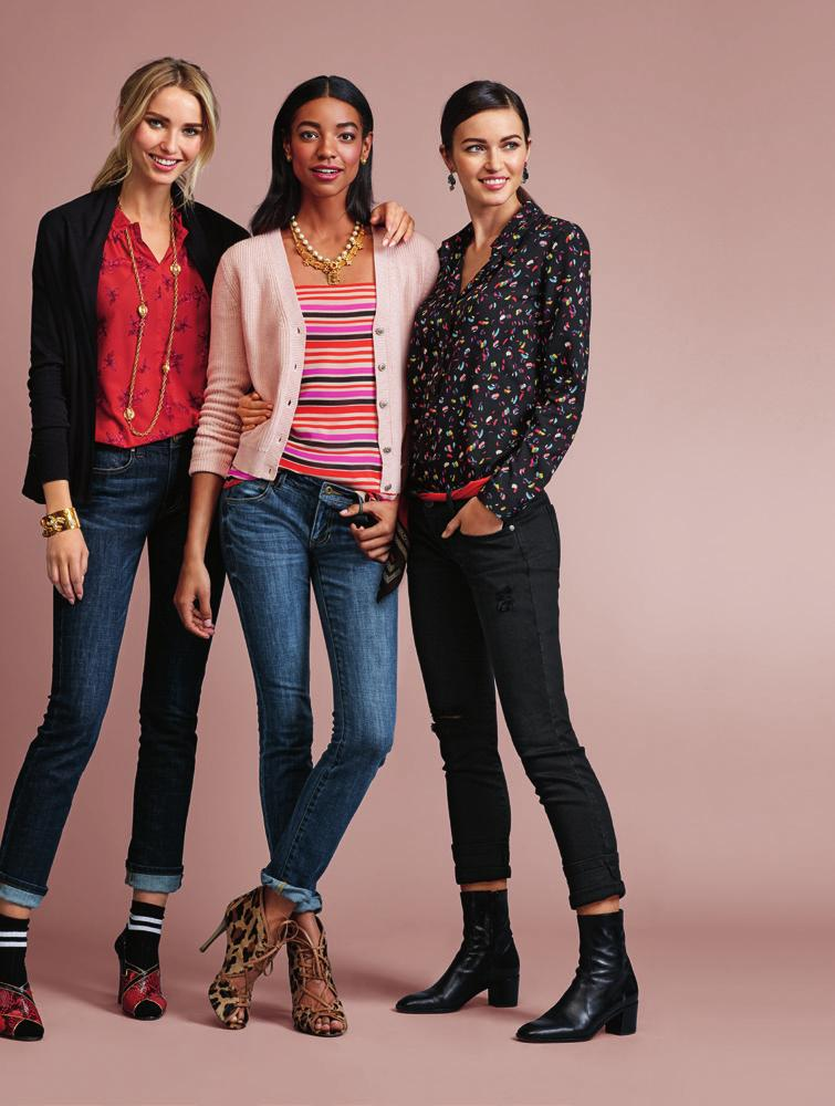 left 3355 Winsome Sweater xs-xl usa 99 can 119 uk 78 5222 Sprig Blouse xs-xl 3386 High Straight 0-16 Step aside L B D, this fall