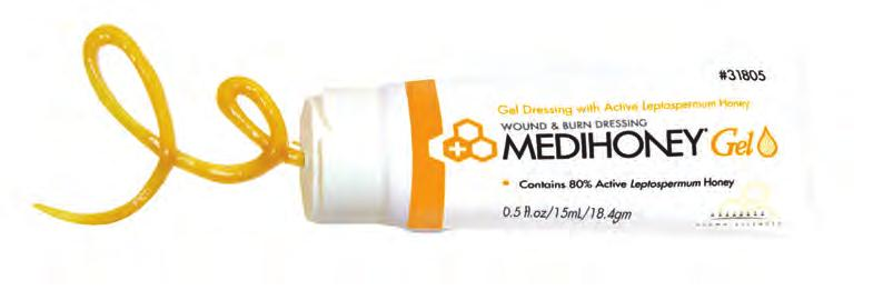 WOUND DRESSINGS MEDIHONEY If debridement and the promotion of healthy tissue is your clinical objective, consider MEDIHONEY for your wound.