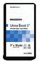 COMPRESSION DRESSINGS Unna Boots Gauze bandage that has been evenly impregnated with a non-hardening paste of zinc oxide to provide venous ulcer