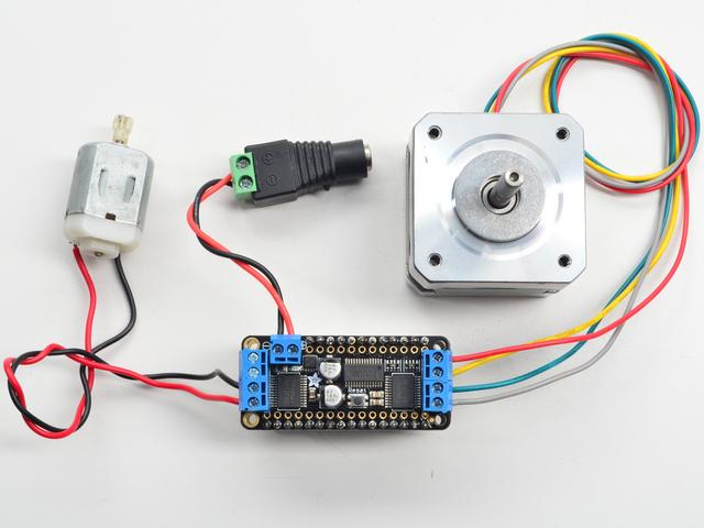 Arduino Usage To use with the Arduino IDE, you'll need to install the Adafruit Motorshield v2 library. This library is not compatible with the older AF_Motor library used for v1 Arduino shields.
