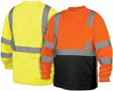 Hi-vis lightweight polyester moisture wicking long sleeves t-shirt with black bottom RLTS3110B