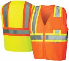 "hook and loop closure RVZ2210 Lime M, L, XL, 2XL, 3XL, RVZ2220 Orange 4XL, 5XL 2"" silver reflective material"